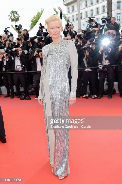 Tilda Swinton attends the opening ceremony and screening of The Dead Don't Die during the 72nd annual Cannes Film Festival on May 14 2019 in Cannes...