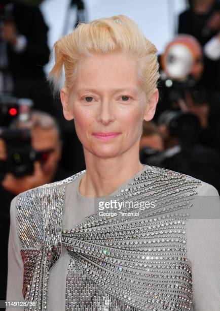 """Tilda Swinton attends the opening ceremony and screening of """"The Dead Don't Die"""" during the 72nd annual Cannes Film Festival on May 14, 2019 in..."""