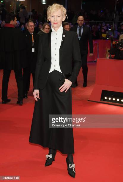 Tilda Swinton attends the Opening Ceremony 'Isle of Dogs' premiere during the 68th Berlinale International Film Festival Berlin at Berlinale Palace...