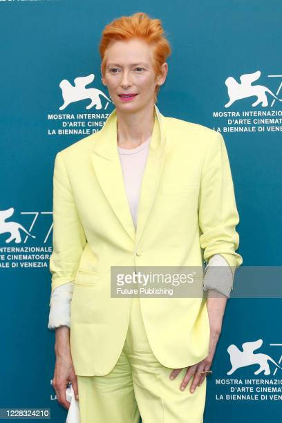Tilda Swinton attends the photocall of 'The Human Voice' at the Palazzo del Casino.- PHOTOGRAPH BY P. Lehman / Barcroft Studios / Future Publishing