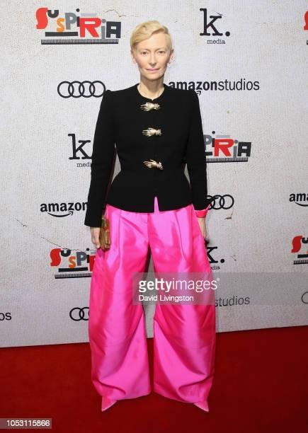 "Tilda Swinton attends the premiere of Amazon Studios ""Suspiria"" at ArcLight Cinerama Dome on October 24, 2018 in Hollywood, California."