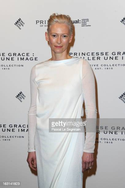 Tilda Swinton attends the Pringle Of Scotland Archive Collection Presentation as part of Paris Fashion Week at Salon FranceAmeriques on March 5 2013...