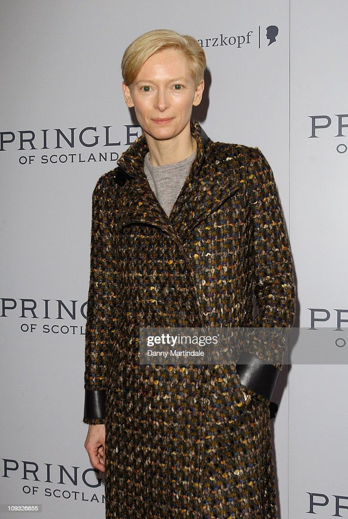 Tilda Swinton attends the Pringle of Scotland show during London Fashion Week Autumn/Winter 2011 on February 21, 2011 in London, England.