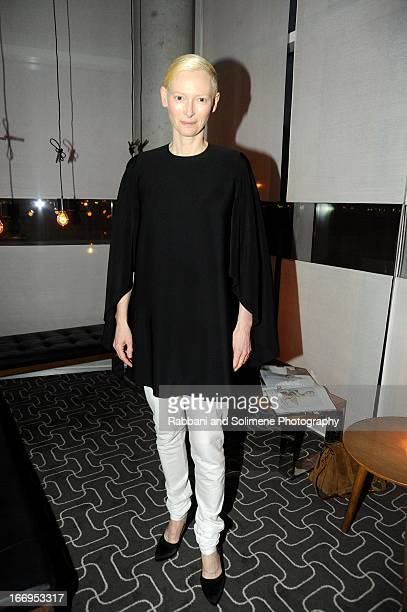 Tilda Swinton attends the Stefano Tonchi Celebrates W Magazine's Modern Beauty Issue Honoring Tilda Swinton at the Perry Street Restaurant on April...