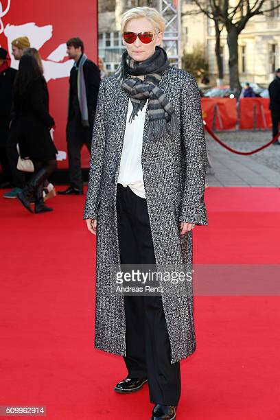 Tilda Swinton attends the 'The Seasons in Quincy Four Portraits of John Berger' screening during the 66th Berlinale International Film Festival...