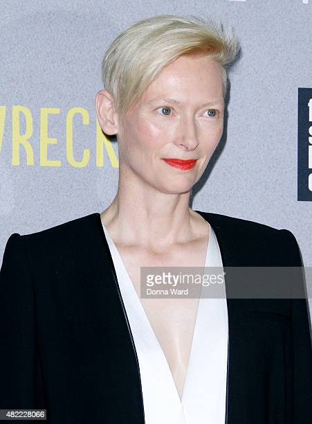 Tilda Swinton attends the Trainwreck World Premiere at Alice Tully Hall on July 14 2015 in New York City