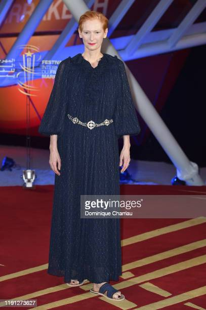 Tilda Swinton attends the tribute to Bertrand Tavernier during the 18th Marrakech International Film Festival -Day Three- on December 01, 2019 in...