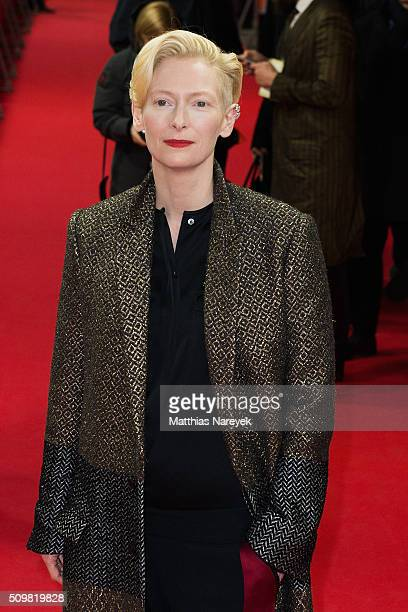 Tilda Swinton attends the 'Tribute to David Bowie The Man Who Fell to Earth' screening during the 66th Berlinale International Film Festival Berlin...