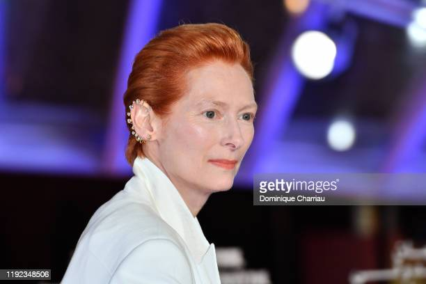 Tilda Swinton attends the tribute to Robert Redford during the 18th Marrakech International Film Festival -Day Eight- on December 06, 2019 in...