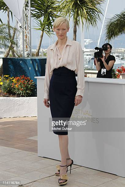 Tilda Swinton attends the 'We Need To Talk About Kevin' photocall during the 64th Annual Cannes Film Festival at Palais des Festivals on May 12, 2011...