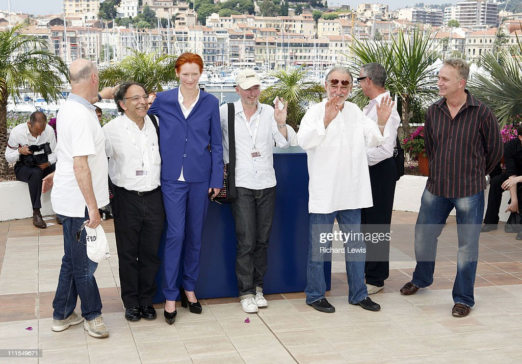 Tilda Swinton, Bela Tarr and guests during 2007 Cannes Film Festival - 'The Man From London' Photocall at Palais des Festival in Cannes, France.