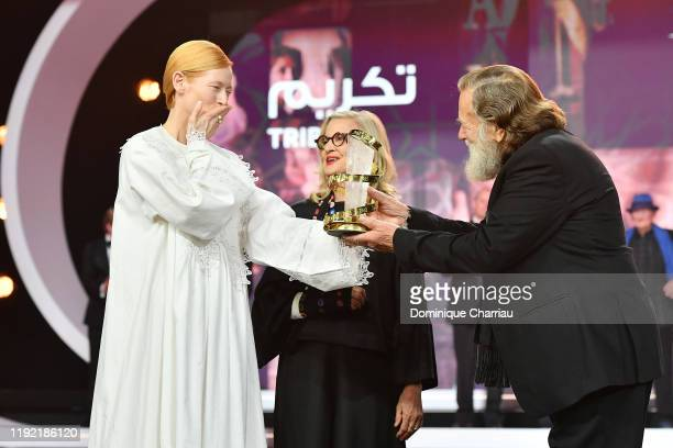 Tilda Swinton Delivers the tribute to Australian cinema to Gillian Armstrong and Jack Thompson during the 18th Marrakech International Film Festival...