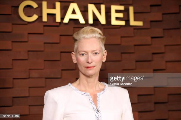 Tilda Swinton during the Chanel 'Trombinoscope' Collection des Metiers d'Art 2017/18 photo call at Elbphilharmonie on December 6 2017 in Hamburg...