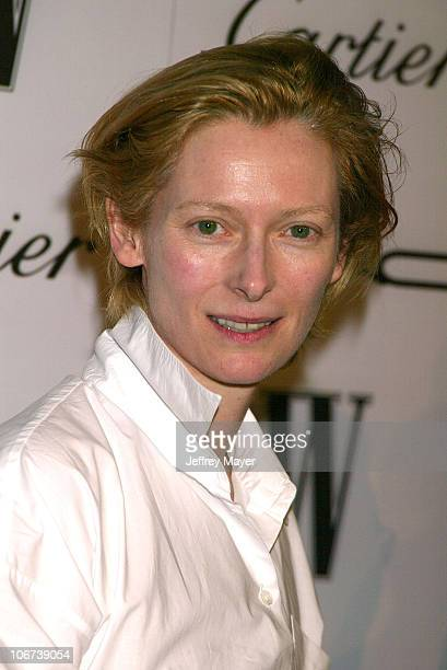 Tilda Swinton during W Magazine Celebrates Their Hollywood A-List Issue With Their First Golden Globes Event Presented With Cartier And M.A.C...
