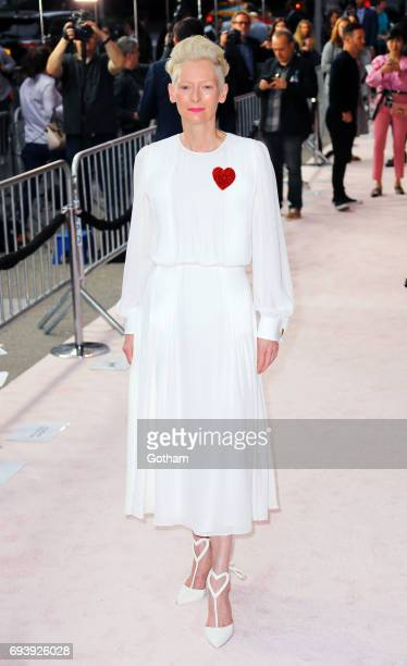 Tilda Swinton is seen at the 'Okja' Premiere on June 8 2017 in New York City