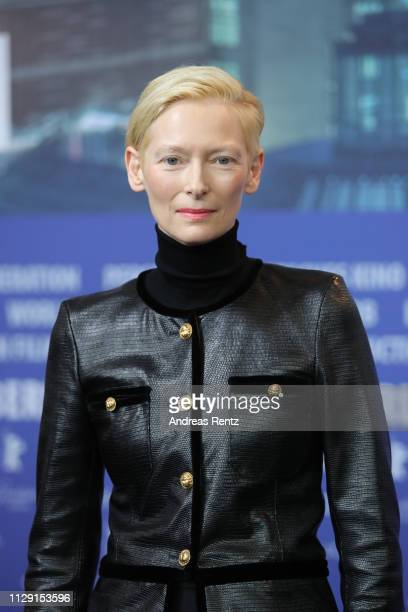 Tilda Swinton is seen at the The Souvenir press conference during the 69th Berlinale International Film Festival Berlin at Grand Hyatt Hotel on...