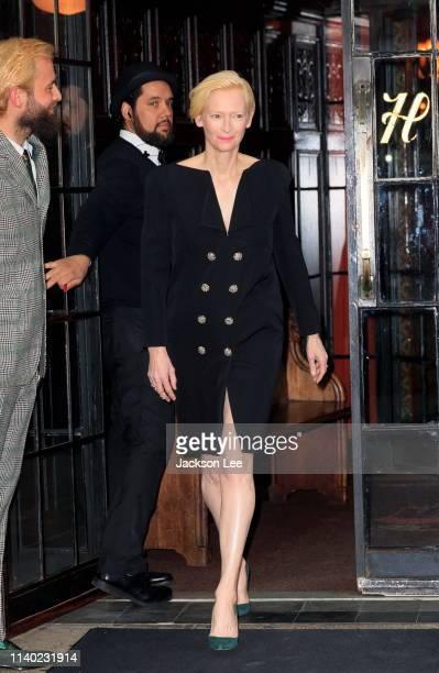 Tilda Swinton is seen on April 29, 2019 in New York City.