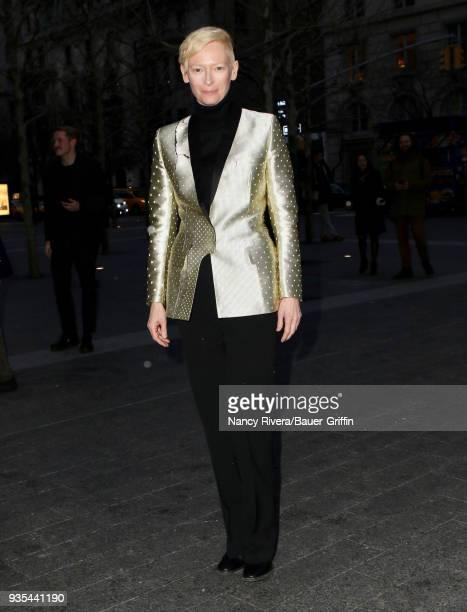 Tilda Swinton is seen on March 20 2018 in New York City