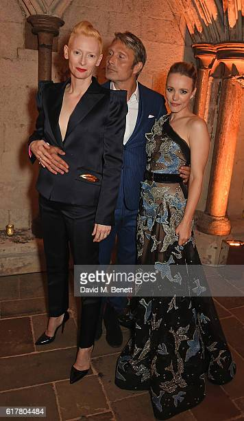 Tilda Swinton, Mads Mikkelsen and Rachel McAdams attend Marvel Studios and British GQ hosted reception in The Cloisters at Westminster Abbey, to...