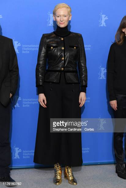 Tilda Swinton poses at the 'The Souvenir' photocall during the 69th Berlinale International Film Festival Berlin at Grand Hyatt Hotel on February 12...