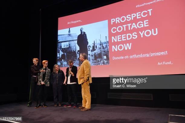 Tilda Swinton Sandy Powell Annie Symonds Simon Fisher Turner and Seamus McGarvey attend a screening of Derek Jarman's The Garden at BFI Southbank to...