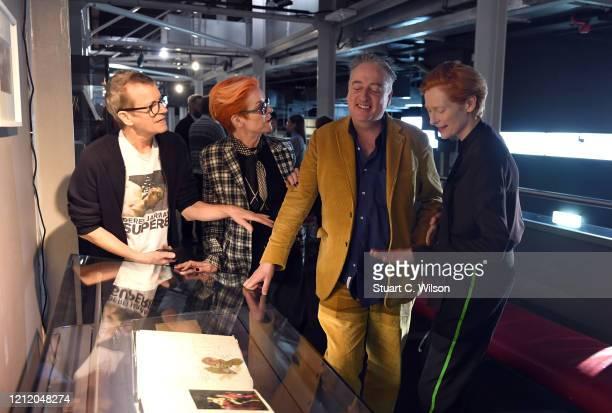 Tilda Swinton Sandy Powell Simon Fisher Turner and Seamus McGarvey attend a screening of Derek Jarman's The Garden at BFI Southbank to to raise...
