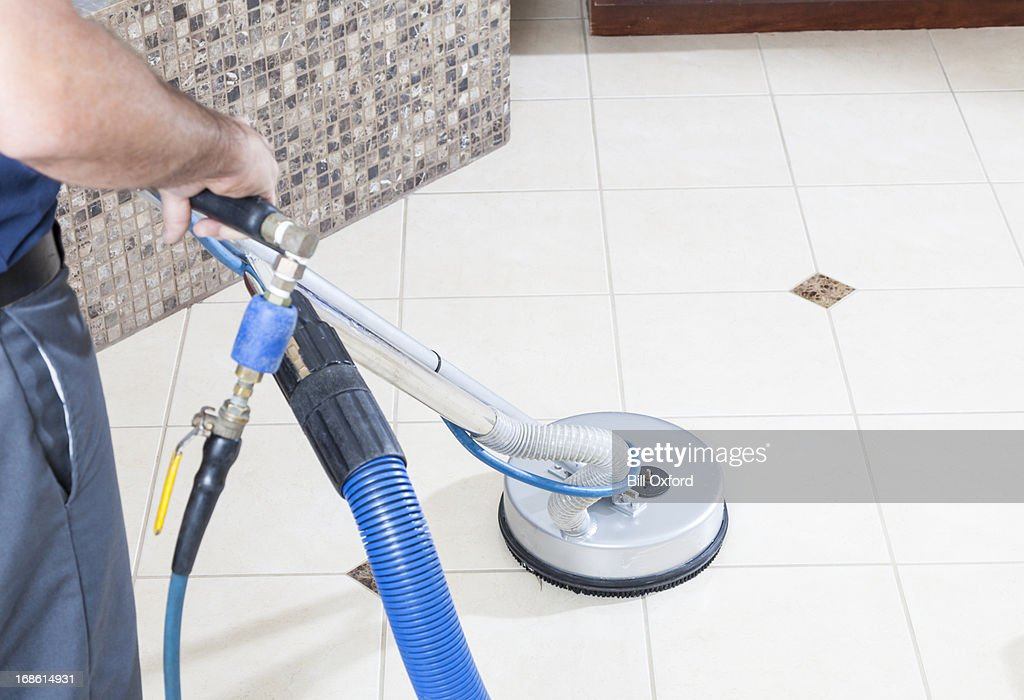 Tile and Grout Cleaning : Stock Photo