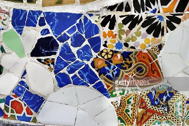 Fliesen Barcelona von Gaudi Parc Guell