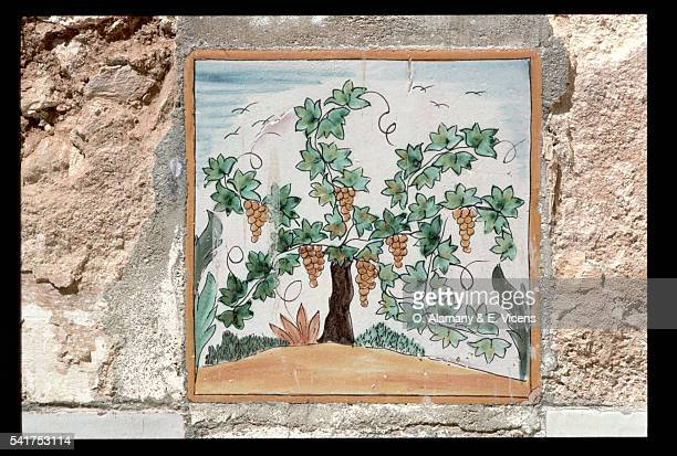 Tile Painting of Vines