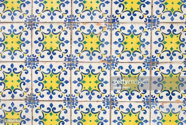 tile pattern - traditionally portuguese stock pictures, royalty-free photos & images