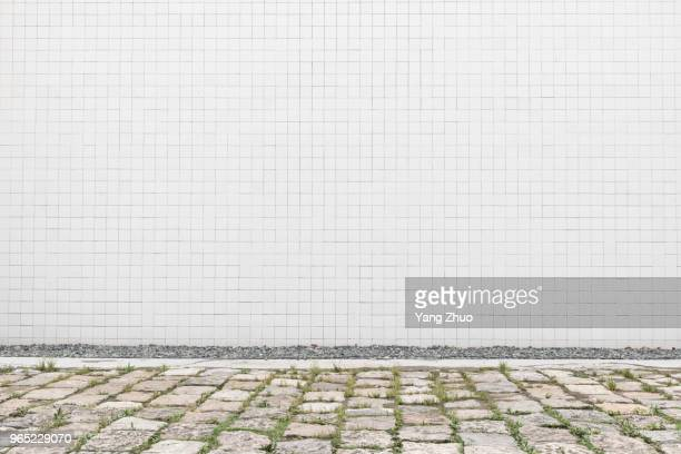 tile wall with white color - tile stock photos and pictures
