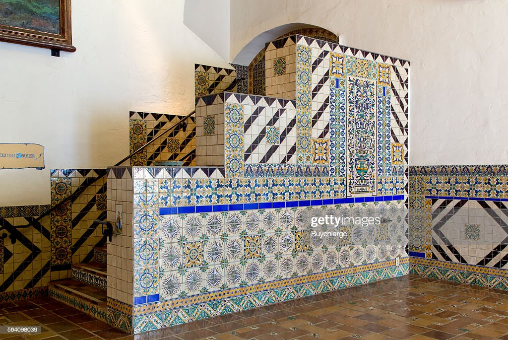 Tile work at the Santa Barbara County Courthouse, Santa Barbara, California