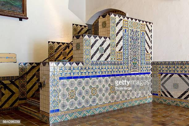 Tile work at the Santa Barbara County Courthouse Santa Barbara California