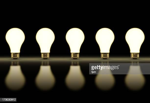 Image répétable Row de ampoules