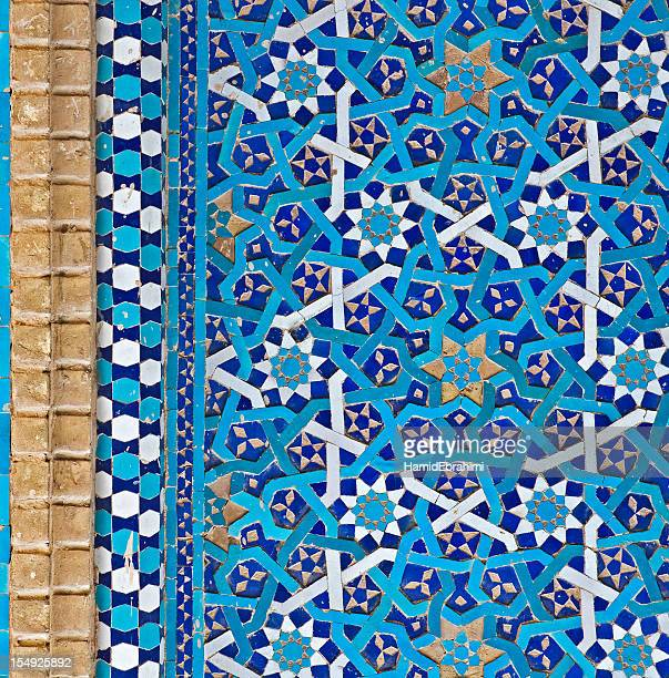tiled background - persian stock photos and pictures