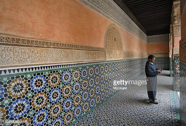 Tiled Corridor at the Ali ben Youssef Medersa in Marrakech Morocco