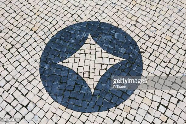 tiled floor closeup - cultura portuguesa foto e immagini stock
