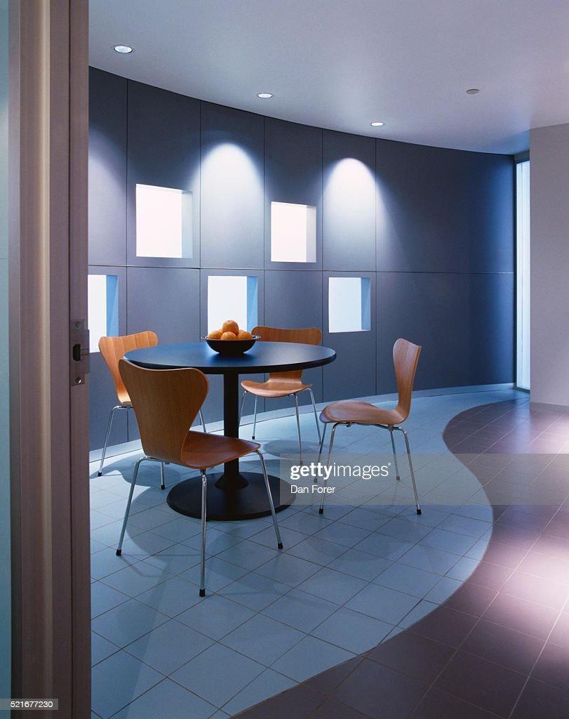 Tiled Floor In Office Break Room Stock Photo | Getty Images