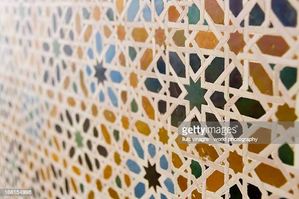 tiled patterns in la ahlambra of granada