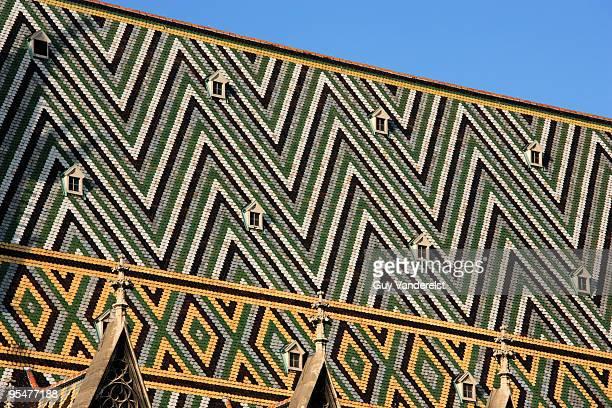 Tiled roof of the St Stephen's Cathedral in Vienna