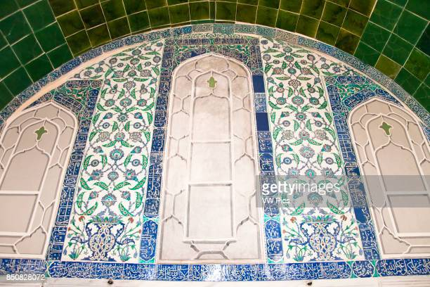 Tiled wall in Privy Chamber of Sultan Ahmed III Topkapi Palace also known as Topkapi Sarayi Sultanahmet Istanbul Turkey