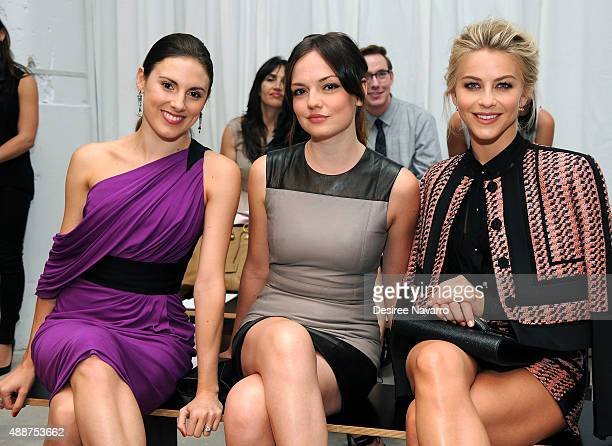 Tiler Peck Emily Meade and Julianne Hough attend J Mendel Spring 2016 fashion show during New York Fashion Week at 330 Hudson St on September 17 2015...