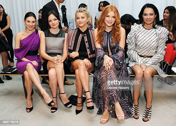 Tiler Peck Emily Meade Julianne Hough Bella Thorne and Lisa Airan attend J Mendel Front Row Backstage Spring 2016 New York Fashion Week at 330 Hudson...