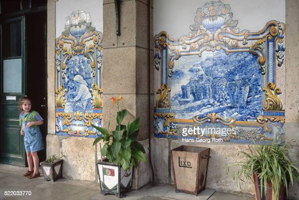 Tiles at Railroad Station, Portugal