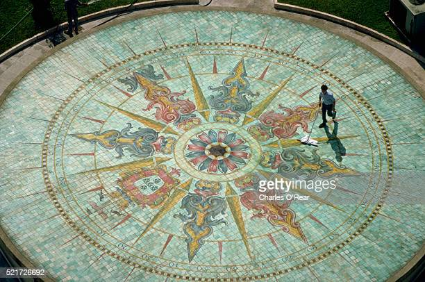 Tilework Compass Rose in Lisbon