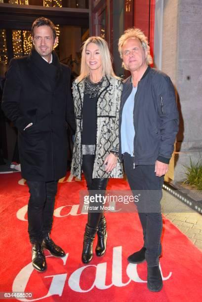 Till Broenner Uwe Ochsenknecht and his girlfriend Kirsten Kiki Viebrock attend the Opening Night By GALA UFA on February 9 2017 in Berlin Germany