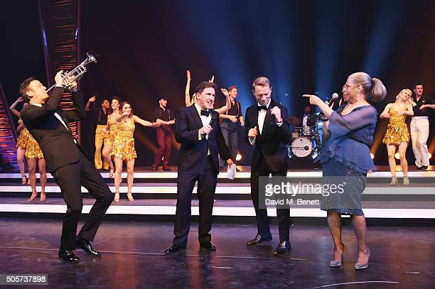 Till Bronner Rob Brydon Ronan Keating and Patti Austin perform during the IWC Come Fly with us Gala Dinner during the launch of the Pilot's Watches...