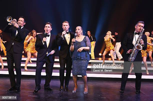 Till Bronner Rob Brydon Ronan Keating Patti Austin and Curtis Stigers perform during the IWC Come Fly with us Gala Dinner during the launch of the...