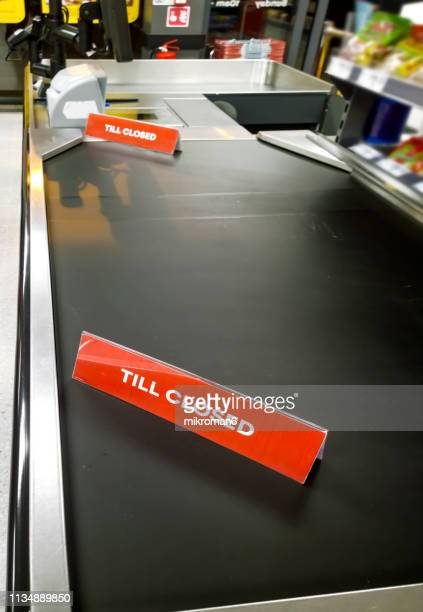 till closed sign, store check-out - till stock pictures, royalty-free photos & images