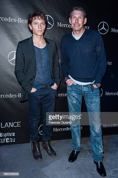Till Conrad president MercedesBenz France and singer Raphael attend the MercedesBenz Popup store opening party on April 11 2013 in Paris France